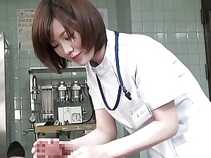 Subtitles CFNM Chinese female doctor handjob