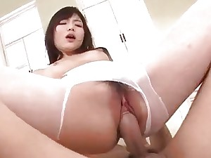 Serious pussy pounding for manhood sucking Megumi Shi