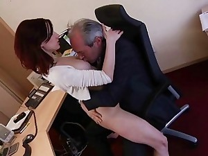 I am a young assistant seducing my boss at work