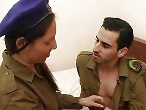 Busty Israely plumper gets nailed by her army mate's boner