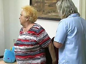 OldNanny Mature woman using fake penis on obese granny