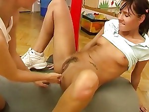 Cindy and Amber ripping up each other in the gym