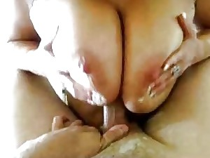 Real housewife with flawless tits going wild