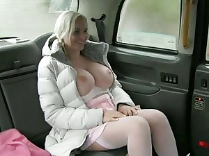 Giant tits stunner boned up for free fare