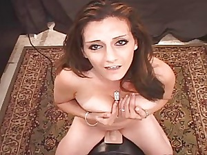 Arabian Floosie Pops Her Pussy Atop Sybian!