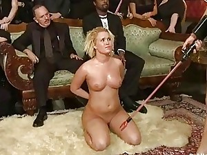 Raunchy gang punishment for a wicked slut doxy