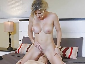 Slute old lady Cory fucks redhead Brooke with regard to a dildo