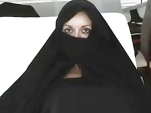 Iranian Muslim Burqa Fit together gives Footjob vulnerable Yankee Mans Beamy American Penis