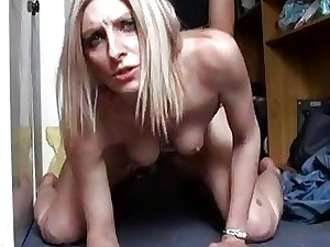 Atrophied French blondie has say no to meaty twat drilled approximately Projection