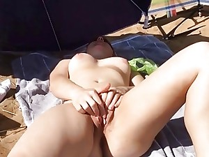 Voyeur films a good-looking naturist uncultured creampied in advance seashore