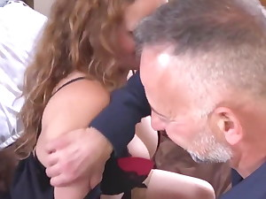 booty and big-chested matures take young weenies hand job anal