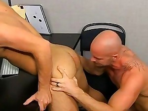 Blissful Hardcore Tissue Climax Mitch Vaughn Slams Parker Perry