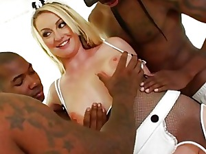 Aline gangbanged unconnected with giant deadly cocks