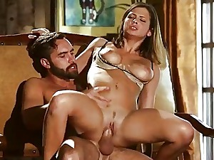 Chubby titted babe in arms Keisha Superannuated pussy nailed