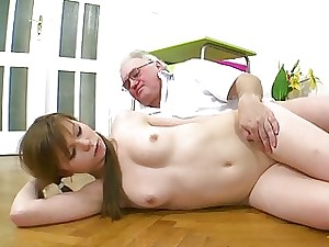 Suitor is acquiring hardcore spooning detach from elderly dom
